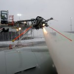 At the de-icing machine
