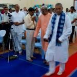 Master Kumar entering