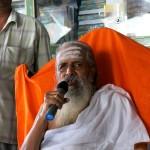 Sri Ramaswamy Garu, the spiritual head of the temple, giving us a discourse