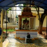 The small Ganesha temple at the entrance of the school
