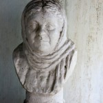 Dusty bust of H.P. Blavatsky
