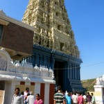 At the entrance of Simhachalam temple - no photos allowed inside