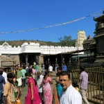 Leaving the temple: in the courtyard