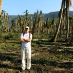 With Meinrad in the palm grove - the whole forest is destroyed by the cyclone