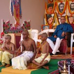 Young boys having done the unapayanam ceremony - introduction into the Gayatri mantram