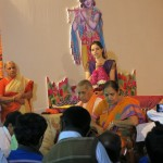 During the Pada Puja