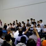 Evening talk in the townhall of Posadas: A children's choir welcome