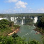 View of the Brazilian side of the falls