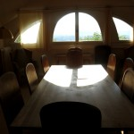 A meeting room with historic chairs