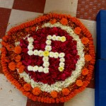The symbol of the Swastika in flowers