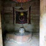 A shiva lingam inside the tower