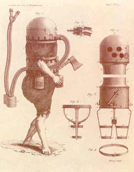First functional German diving suit, by Karl Heinrich Klingert